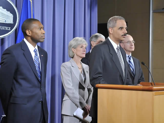 Attorney General Holder announces that AstraZeneca will pay $520 million to resolve allegations about Seroquel.