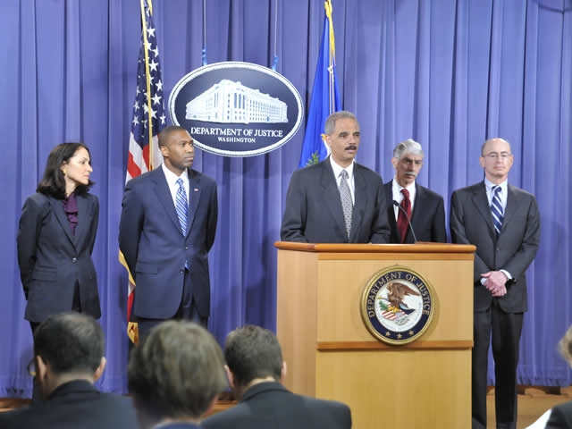 AG Holder and representatives of the Departments of Justice and Health and Human Services' Health Care Fraud Enforcement Action Team (HEAT) announced the terms of the civil settlement.