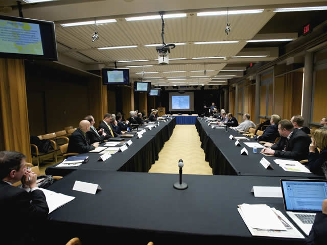View of the ICITAP management conference roundtable.