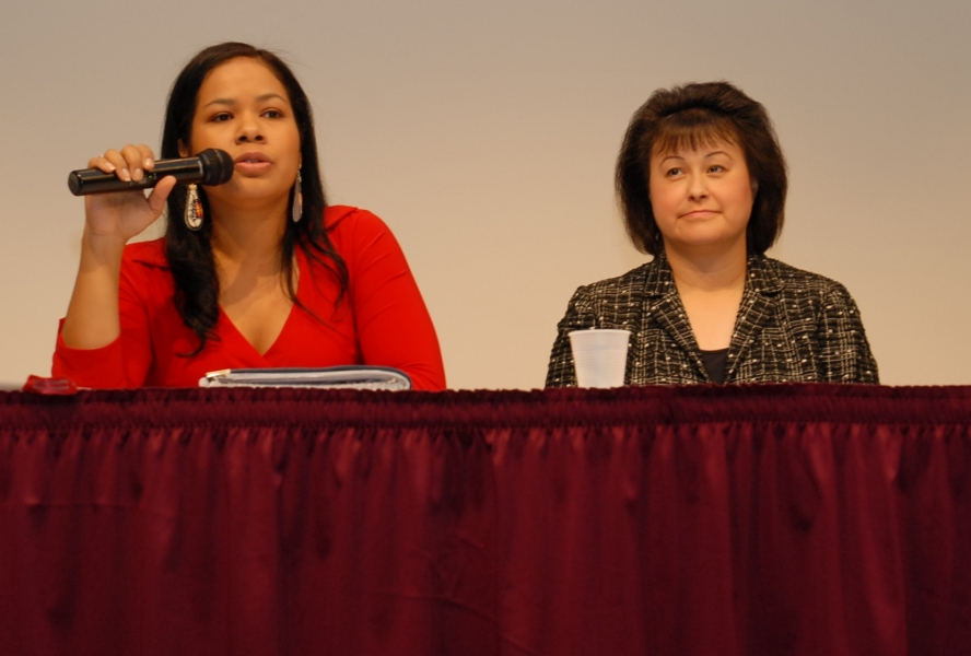 Lillian A. Sparks (Lakota Woman of the Rosebud and Oglala Sioux Tribe) and Dr. Yvette Roubideaux (Rosebud Sioux Tribe)