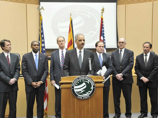 Press conference held by Attorney General Eric Holder, Arizona Attorney General Terry Goddard and task force members.