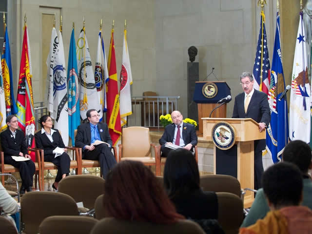 DAG James M. Cole delivered remarks about  initiatives set forth to combat the challenges facing American Indian public safety