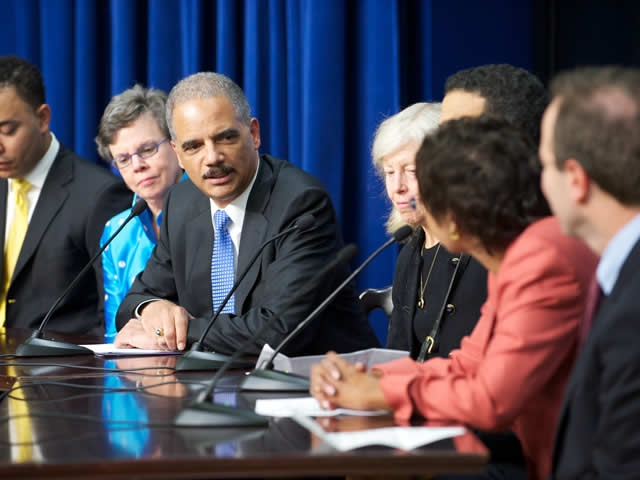 Attorney General Holder joined the panel to recognize the honor recipients and discuss pressing issues facing disadvantaged members of society.