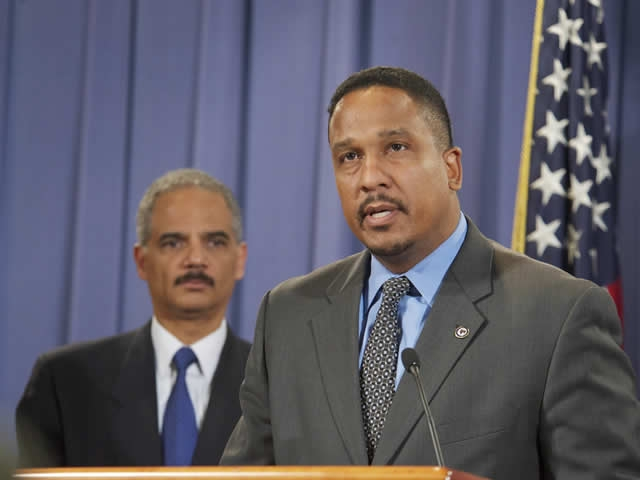 """Ron Machen, United States Attorney for the District of Columbia details some of the investigative work in the coordinated law enforcement effort known as """"Operation In Our Sites II"""" that targeted online retailers of a diverse array of counterfeit goods, including sports equipment, shoes, handbags, athletic apparel, sunglasses, and illegal copies of DVDs, music and software."""