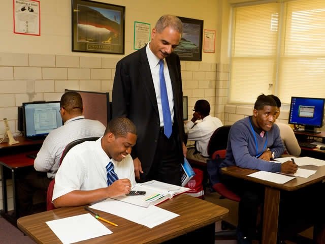 United States Secretary of Labor and Attorney General Eric Holder to tour the Potomac Job Corps Center