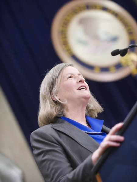 Newly appointed AAG for the Office of Legal Council Virginia Seitz is the first woman to fill this AAG post.