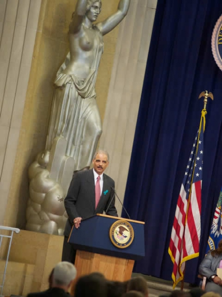 Attorney General Holder celebrates the progress made thus far in the fight against domestic violence and sexual assault