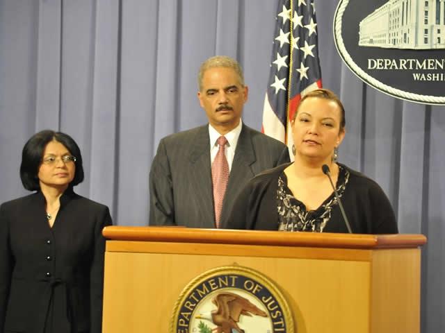 Environmental Protection Agency Administrator Lisa Jackson addresses the media concerning the Deepwater Horizon disaster.