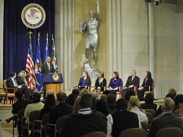 Eric Holder, Attorney General recommitted the Department to continue its efforts to protect women from violence.