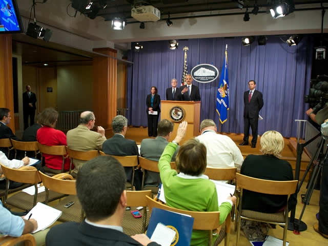 Attorney General Holder takes questions from the press regarding the recently unfoiled assasination plot.