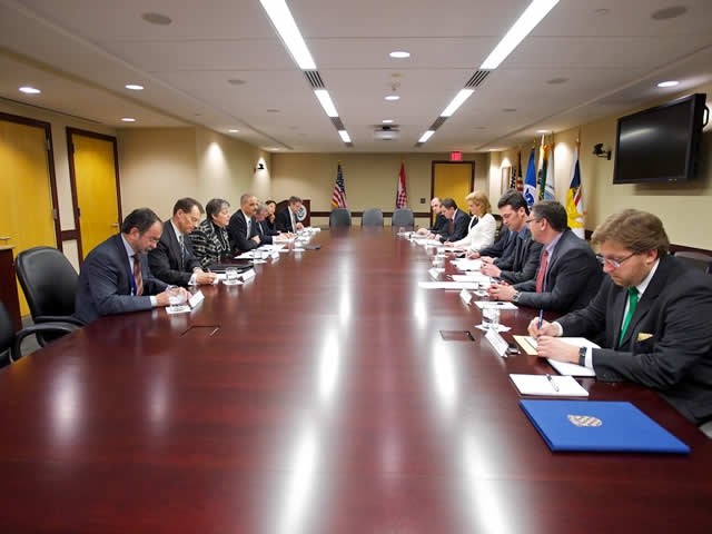 Representatives from both the United States and Croatia discuss the agreement.