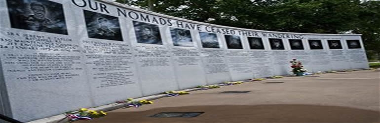 June 25, 1996. Khobar Towers - Memorial for the victims of the Khobar Towers Bombing in Dharhran, Saudi Arabia.