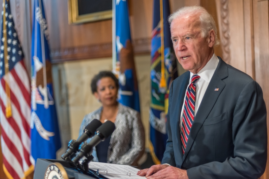 Vice President Biden delivers remarks at the swearing in of Attorney General Lynch.