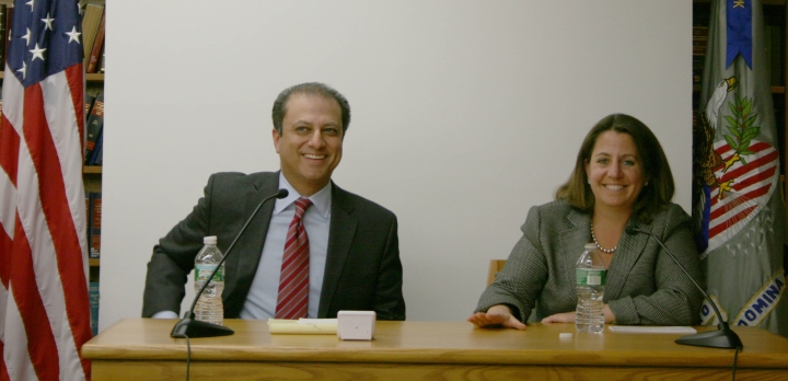 U.S. Attorney Preet Bharara with Lisa Monaco