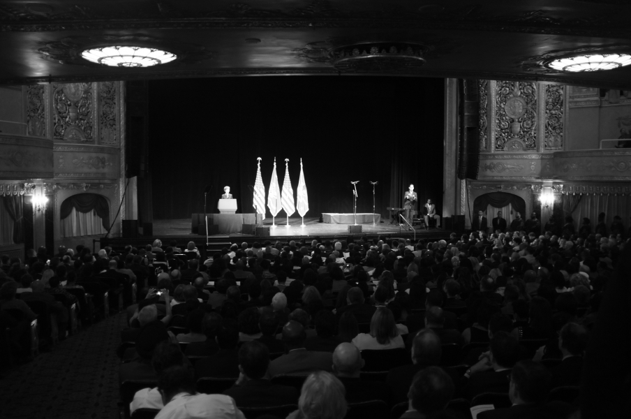 Deputy Attorney General Sally Quillian Yates speaks at Attorney General Lynch's investiture ceremony.