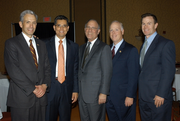 U.S. Attorney John Walsh and colleagues at the investiture of now U.S. District Court Judge Ken Gonzales