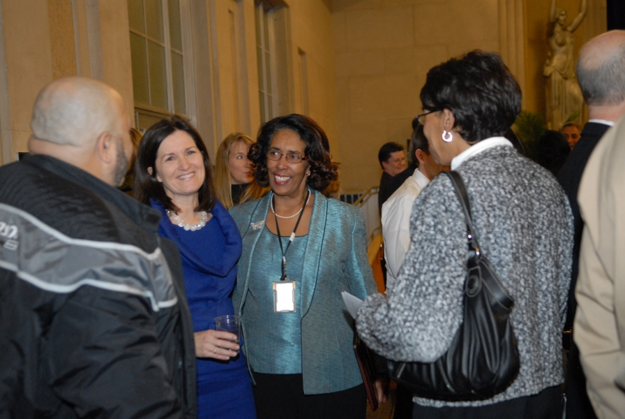 Assistant Attorney General Christine Varney (on the left) and 2009 AAG Individual Award recipient Brenda O'Connor.