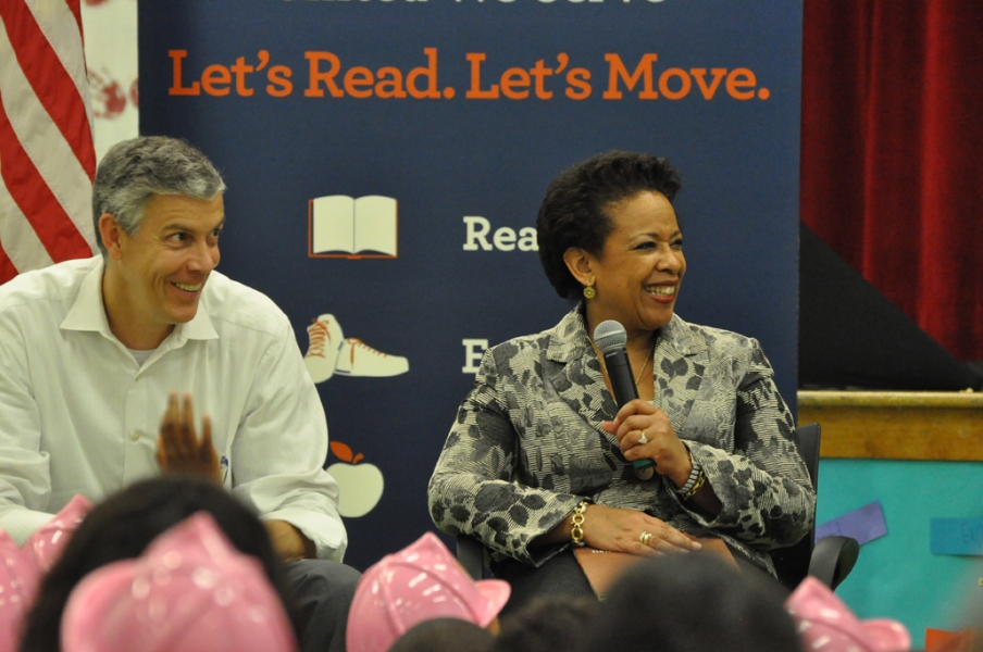 Attorney General Loretta Lynch & Secretary of Education Arne Duncan.