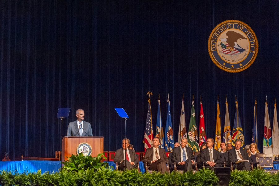 Attorney General Holder presents remarks at the 62nd Annual Attorney General's Awards Ceremony.