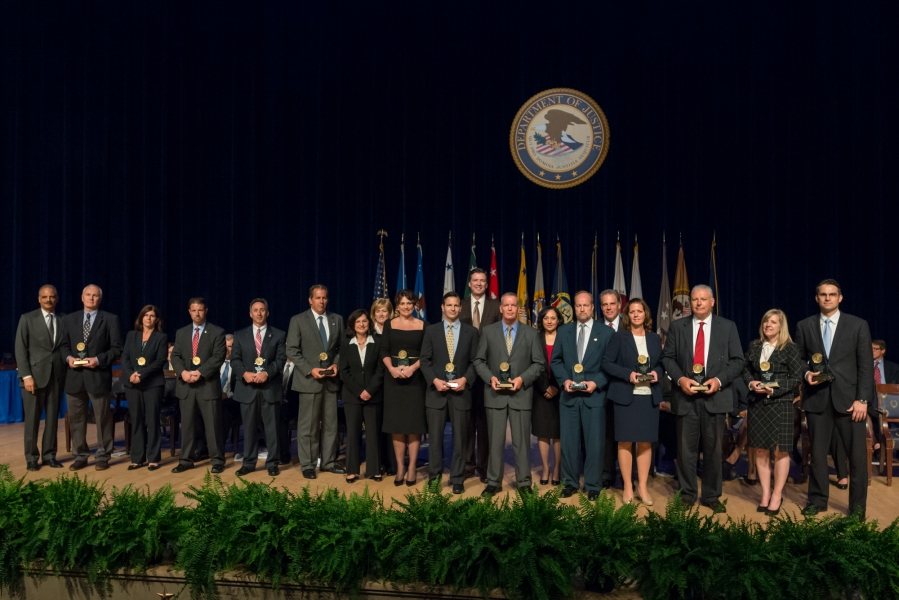 The Attorney General's Award for Distinguished Service is presented to a team for its extraordinary efforts to capture and