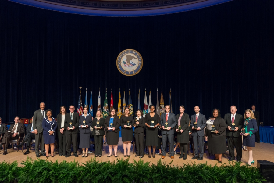 The Attorney General's Award for Distinguished Service is presented to a team for its exemplary performance in litigating U.S. v