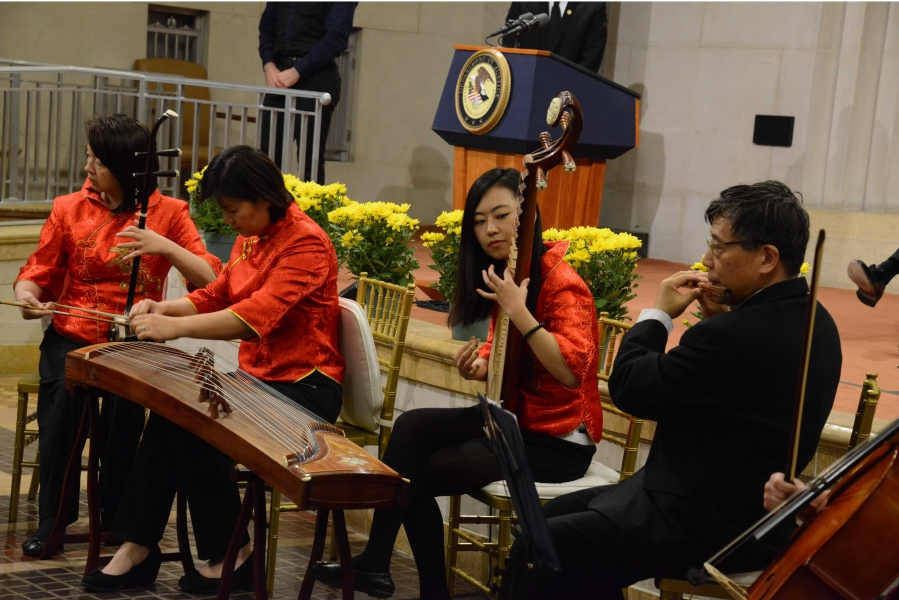 The Washington Chinese Traditional Orchestra provides the program's cultural presentation
