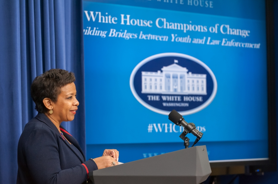 Attorney General Lynch Speaks at the White House Champions of Change, Building Bridges Between Youth and Law Enforcement