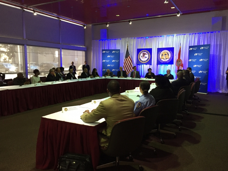 Attorney General Loretta E. Lynch holds a convening with law enforcement, local officials and other members of the community