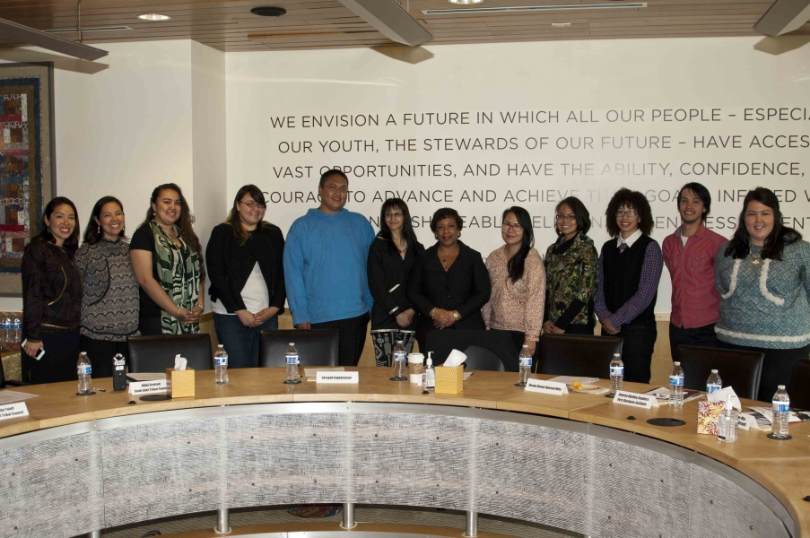 Attorney General Loretta E. Lynch holds a roundtable discussion with Alaska Native youth