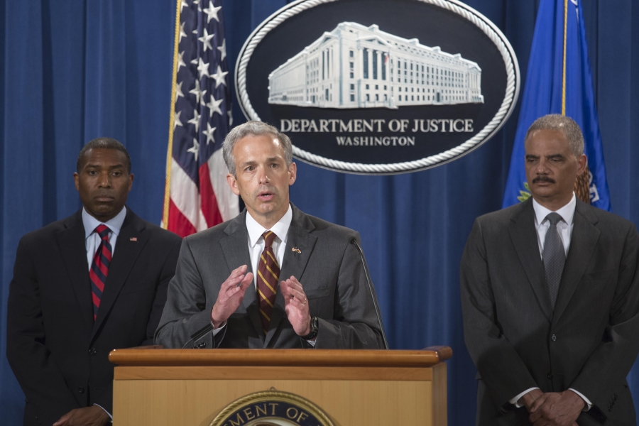U.S. Attorney John Walsh joins Attorney General Eric Holder and others at Citigroup Settlement press conference.
