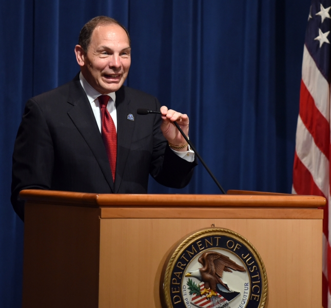 Secretary Robert McDonald of the Department of Veterans Affairs participated in a discussion on efforts
