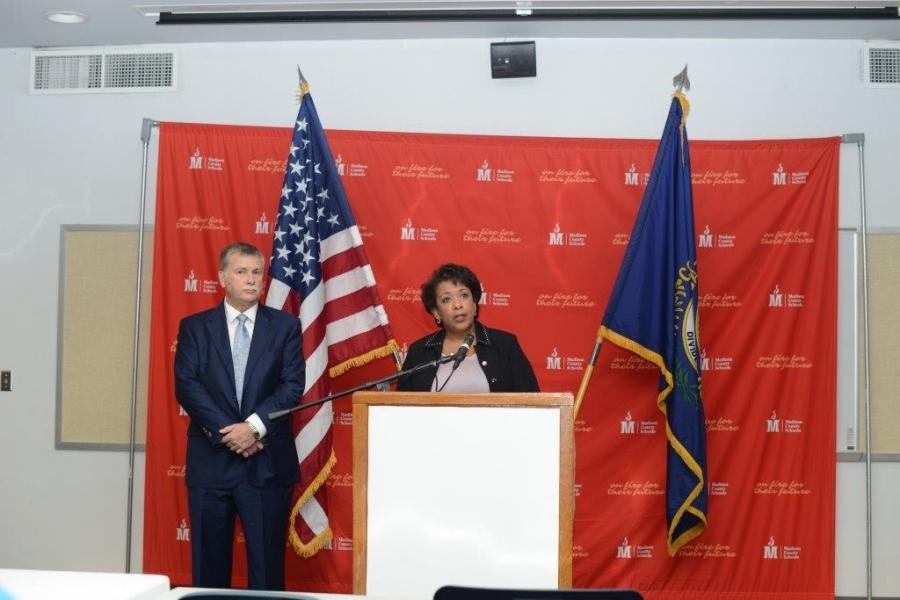 Attorney General Loretta E. Lynch and U.S. Attorney Kerry B. Harvey