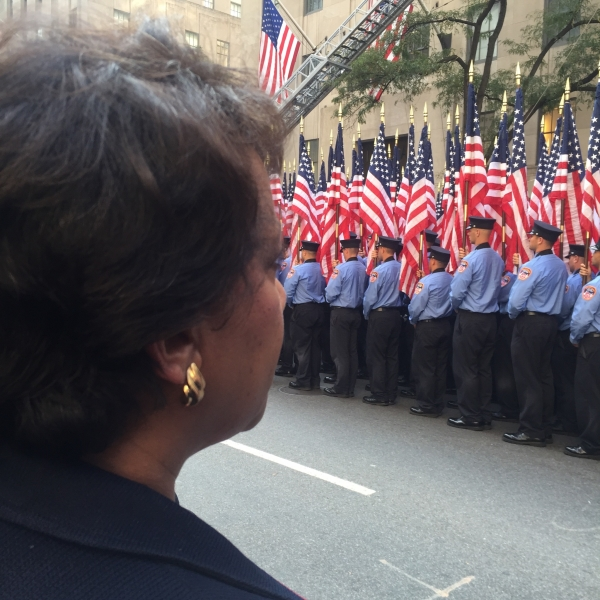 Attorney General Loretta E. Lynch attended the New York City Fire Department's (FDNY) 15th Anniversary Memorial Mass at St. Pa