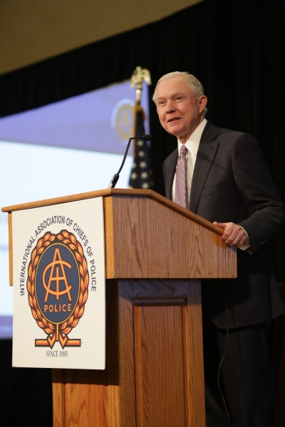 Attorney General Sessions delivers keynote remarks at the International Association of Chiefs of Police Midyear Conference