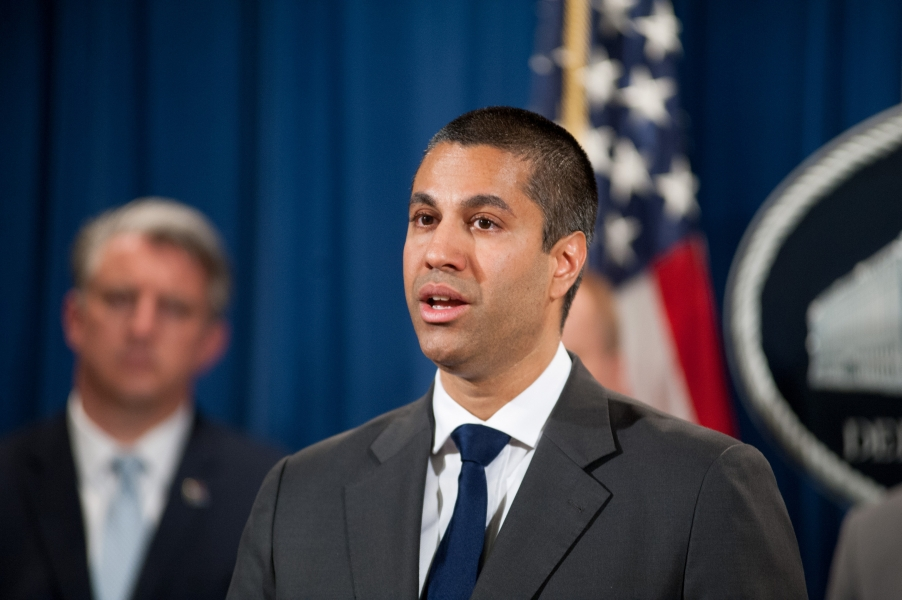 FCC Chairman Ajit Pai speaks at the announcement of the National Blue Alert Network.