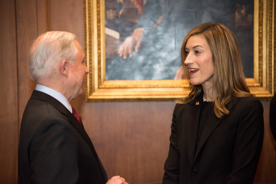 Attorney General Jeff Sessions and Associate Attorney General Rachel L. Brand.