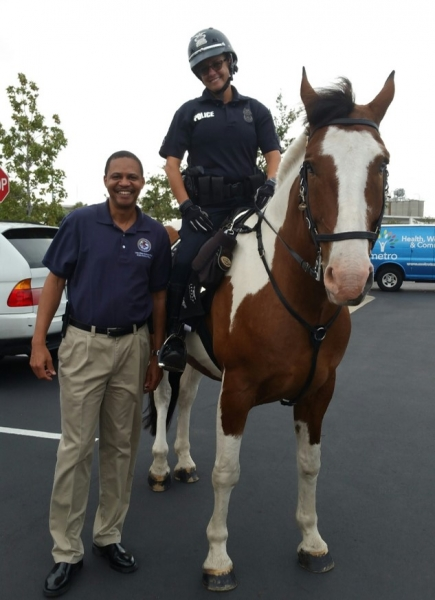 Tampa PD horsing around with Public Affairs Officer