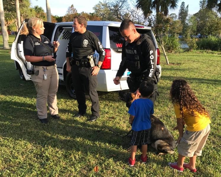 Meeting the Sarasota PD K-9 officers