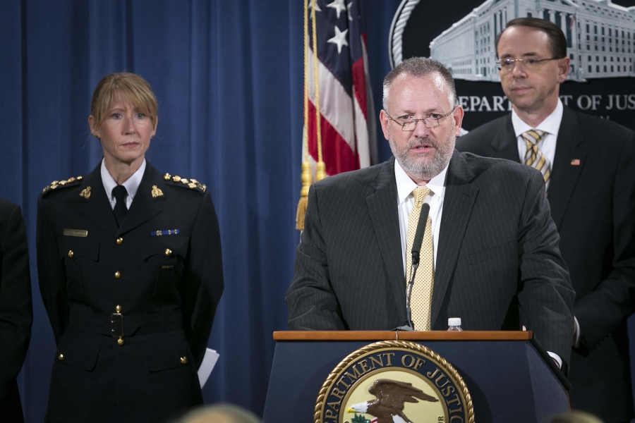 Acting DEA Administrator Robert W. Patterson delivers remarks.