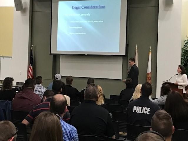 AUSA Roger Handberg discusses Legal Considerations