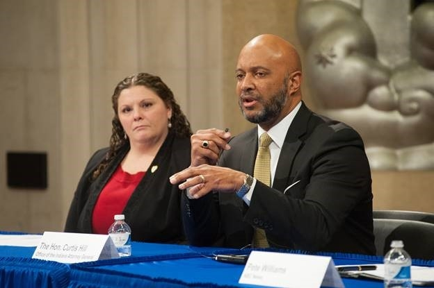 Attorney General of Indiana Curtis Hill speaks on the effective law enforcement panel on how his state is working to raise awareness of the issue