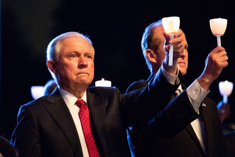 Attorney General Sessions at the 30th Annual Candlelight Vigil honoring the memory of fallen officers.