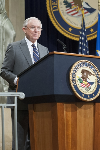 Attorney General Sessions delivers remarks at the Justice Department's Forum on Free Speech in Higher Education
