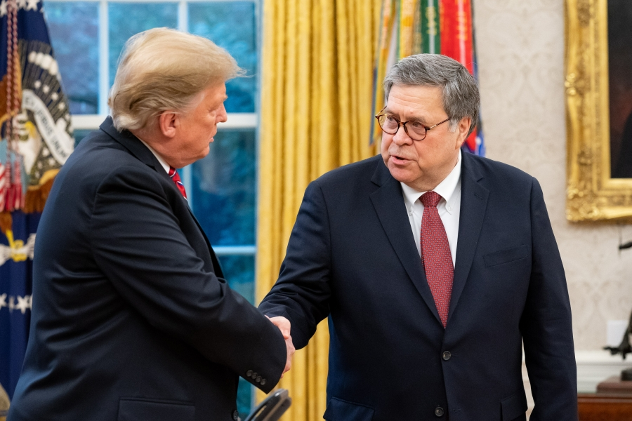 President Trump and Attorney General Barr