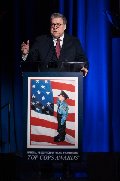 Attorney General Barr delivered remarks at the National Association of Police Organizations (NAPO) Top Cops Awards