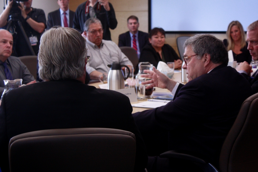 Attorney General Barr met with Alaska Native leaders and listened to law enforcement concerns during a Native Justice Roundtable in Anchorage, Alaska.