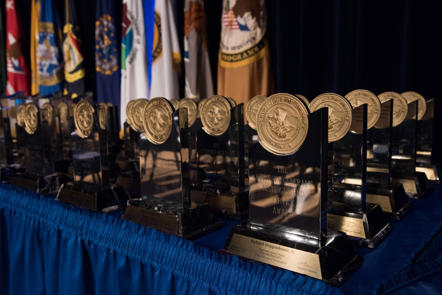 Awards presented at the Department of Justice's Attorney General's Awards on October 23, 2019