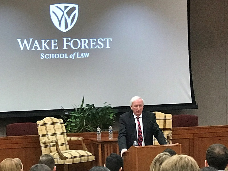 """""""No society can have justice when stealing has been effectively licensed, open-air drug markets are allowed to flourish, and neither victim nor police officer trust that those who break the law will be held accountable,"""" Deputy Attorney General Rosen said in remarks at Wake Forest School of Law."""
