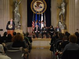 The Department of Justice held its 2019 African American (Black) History Month Observance Program in the Great Hall of the Robert F. Kennedy Main Justice.
