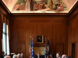 Attorney General William P. Barr hosts a local leaders roundtable to address elder financial exploitation featuring victims of elder abuse.